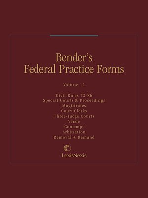cover image of Bender's Federal Practice Forms