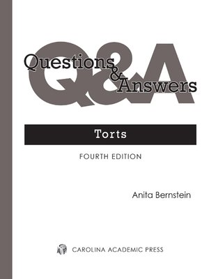 Cover of  Questions & Answers: Torts