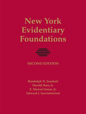 cover image of New York Evidentiary Foundations
