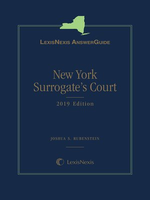 cover image of LexisNexis AnswerGuide: New York Surrogate's Court