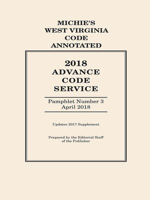 cover image of West Virginia Advance Code Service
