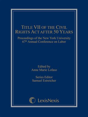 cover image of Title VII of the Civil Rights Act After 50 Years