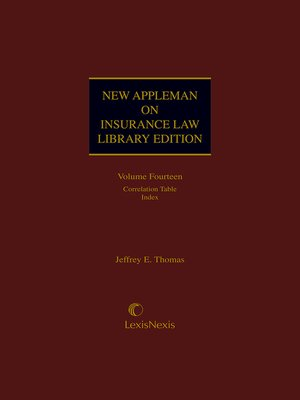 cover image of New Appleman on Insurance Law Library Edition