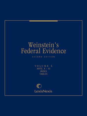 cover image of Weinstein's Federal Evidence