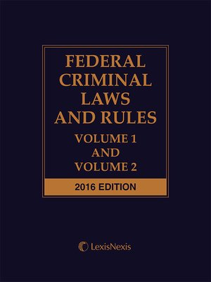 cover image of Federal Criminal Laws and Rules
