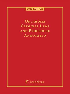 cover image of Oklahoma Criminal Laws and Procedure Annotated