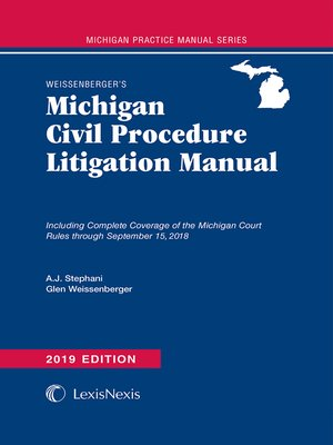 cover image of Weissenberger's Michigan Civil Procedure Litigation Manual