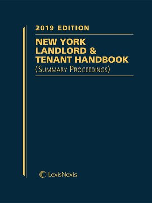 cover image of New York Landlord & Tenant Handbook