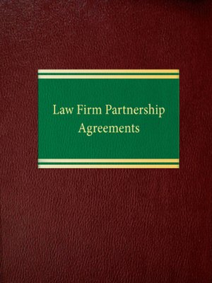 Law Firm Partnership Agreements By Leslie D Corwin Overdrive