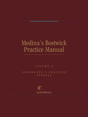 cover image of Medina's Bostwick Practice Manual