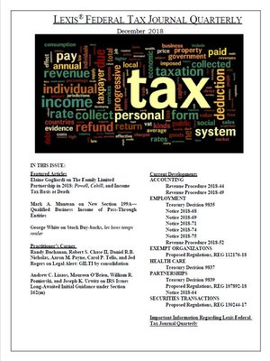 cover image of Lexis® Federal Tax Journal Quarterly