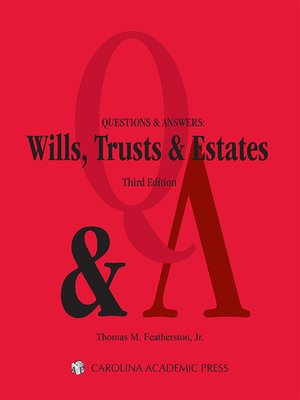 cover image of Questions & Answers: Wills, Trusts & Estates