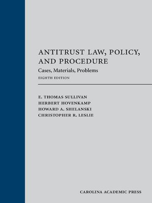 cover image of Antitrust Law, Policy and Procedure