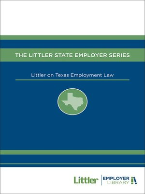 cover image of Littler on Texas Employment Law