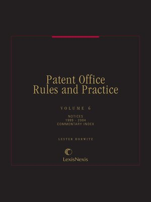 cover image of Patent Office Rules and Practice