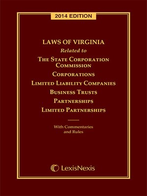 cover image of Virginia Laws Related to Corporations and Other Business Entities