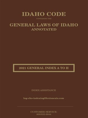 cover image of Idaho Code