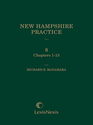 cover image of New Hampshire Practice: Personal Injury: Tort and Insurance Practice