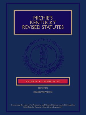 cover image of Michie's Kentucky Revised Statutes