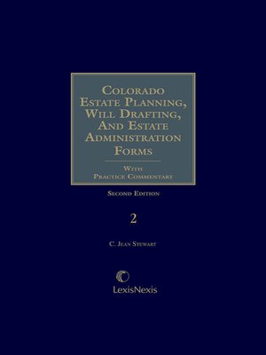 cover image of Colorado Estate Planning, Will Drafting, and Estate Administration Forms