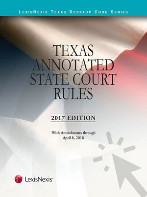 cover image of Texas Annotated Court Rules