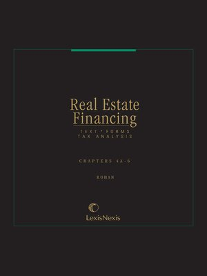 cover image of Real Estate Financing: Text, Forms, Tax Analysis