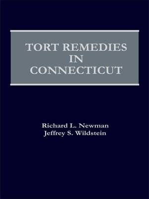 cover image of Tort Remedies in Connecticut