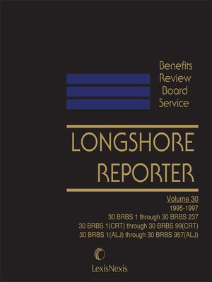 cover image of Benefits Review Board Service Longshore Reporter