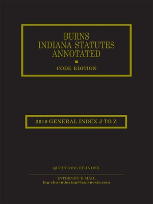 cover image of Burns' Indiana Statutes Annotated