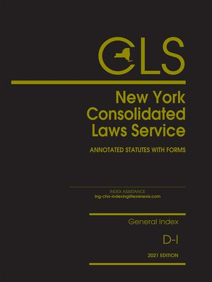 cover image of New York Consolidated Laws Service