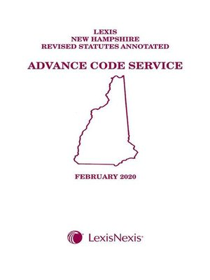 cover image of New Hampshire Advance Code Service