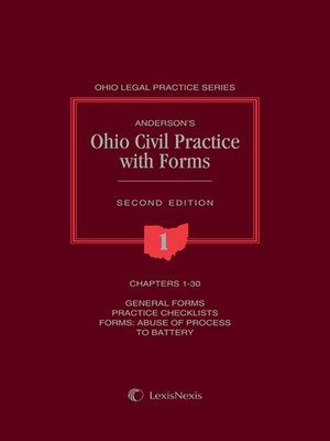 cover image of Anderson's Ohio Civil Practice with Forms