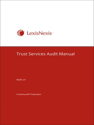 cover image of Trust Services Audit Manual