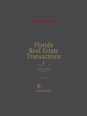Florida Real Estate Transactions by Ralph E  Boyer