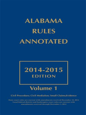 cover image of Alabama Rules Annotated