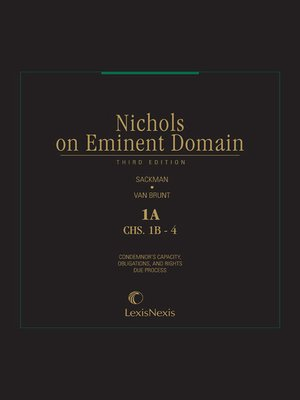 cover image of Nichols on Eminent Domain