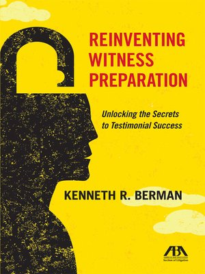 cover image of Reinventing Witness Preparation