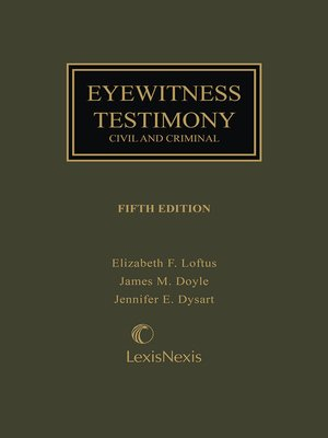 cover image of Eyewitness Testimony