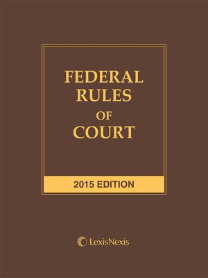 cover image of Federal Rules of Court