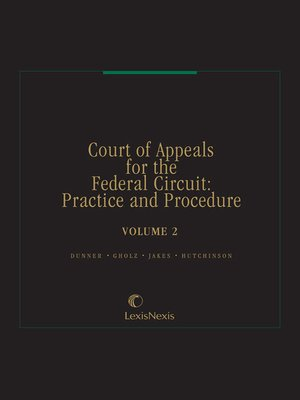 cover image of Court of Appeals for the Federal Circuit: Practice and Procedure