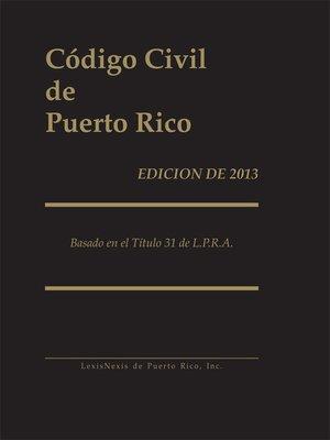 cover image of Código Civil de Puerto Rico
