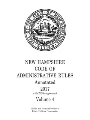 cover image of New Hampshire Code of Administrative Rules Annotated