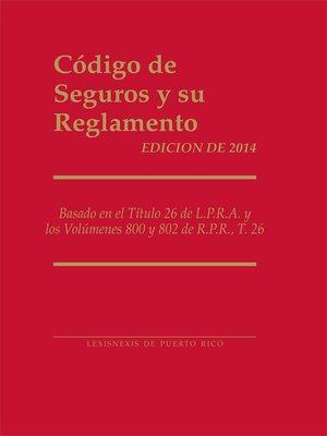 cover image of Código de Seguros y su Reglamento