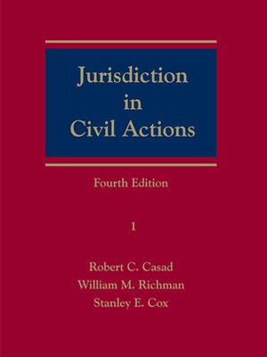 cover image of Jurisdiction in Civil Actions