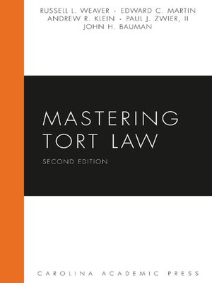 Cover of Mastering Tort Law