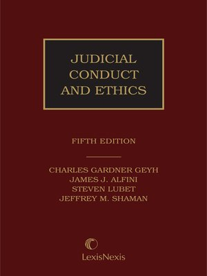 cover image of Judicial Conduct and Ethics