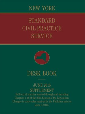 cover image of New York Standard Civil Practice Service Deskbook