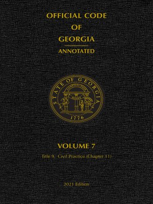 cover image of Official Code of Georgia Annotated