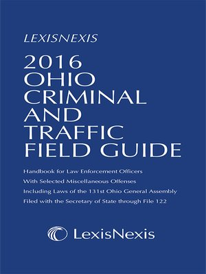 cover image of 2016 Ohio Criminal and Traffic Field Guide