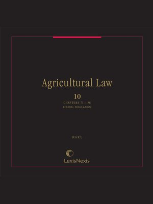 cover image of Agricultural Law